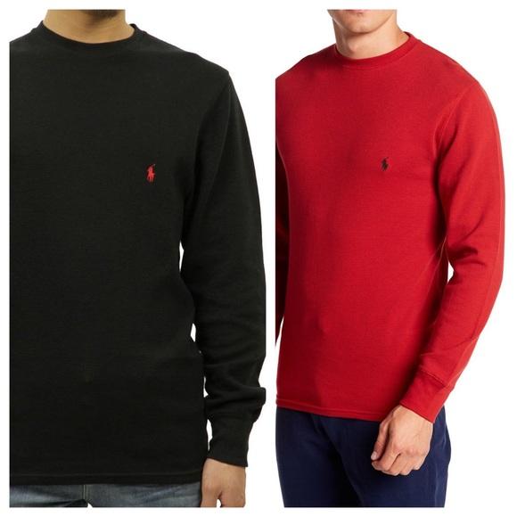 e781e900 Polo Ralph Lauren waffle knit thermal shirt men L.  M_5c4a61cebaebf6e2b0395313